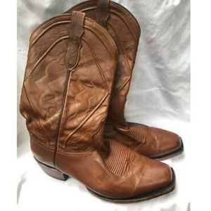 Dan Post Western Cowboy Leather Boot Size 10 D